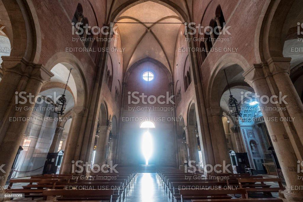 Fidenza, Parma, Italy: cathedral interior stock photo