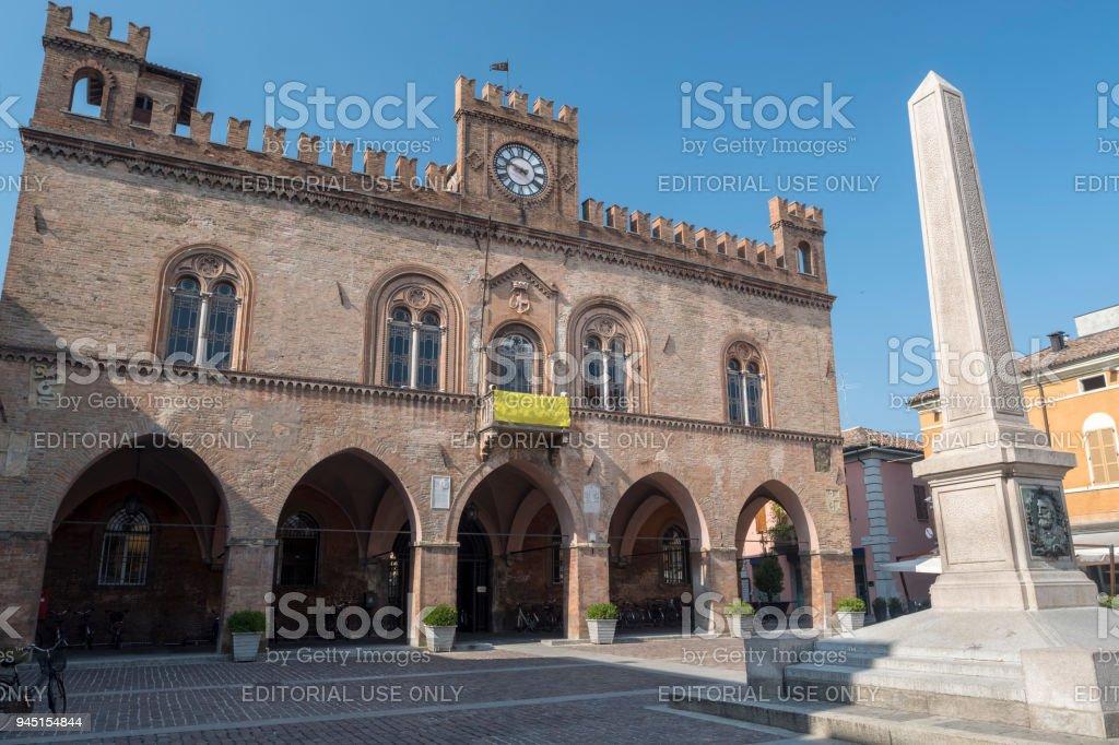 Fidenza, Parma, Italy: town hall stock photo