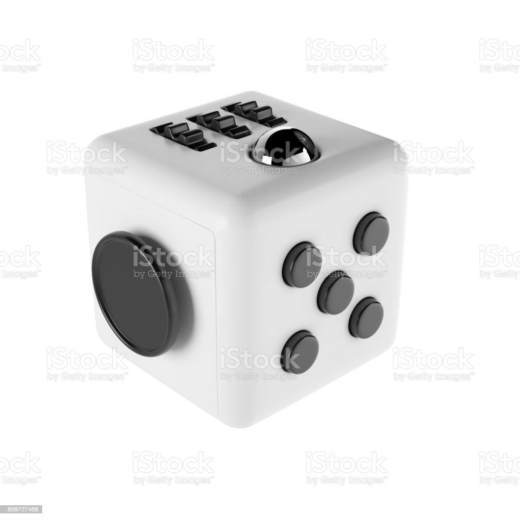 Cube - weißem Hintergrund zappeln – Foto