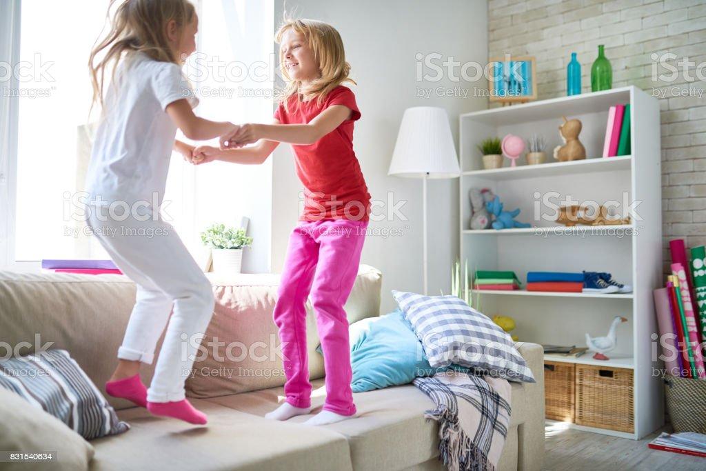 Fidgety Children Having Fun stock photo