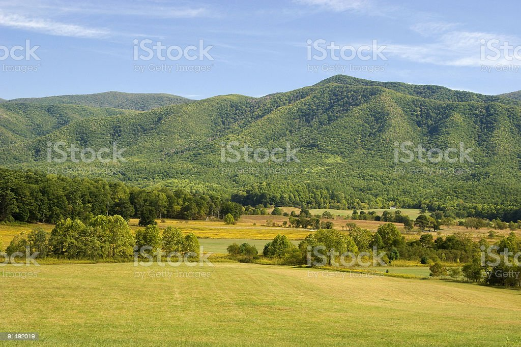 Field and Mountains royalty-free stock photo