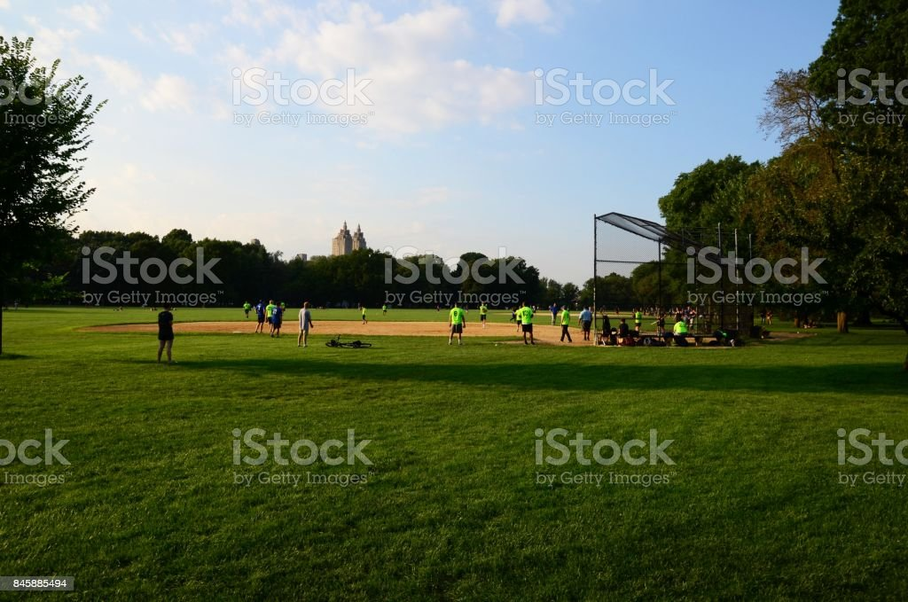 field and people stock photo