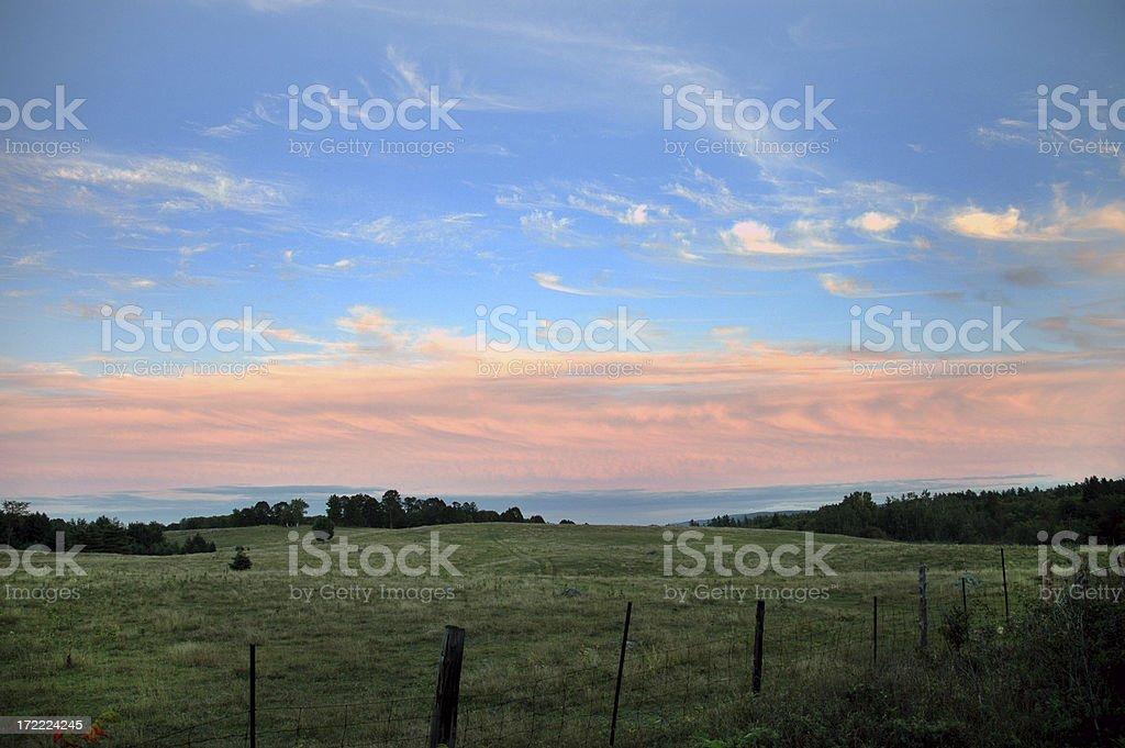 Field at Dusk royalty-free stock photo