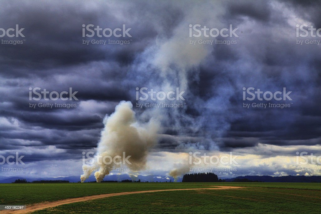 Field Burning stock photo