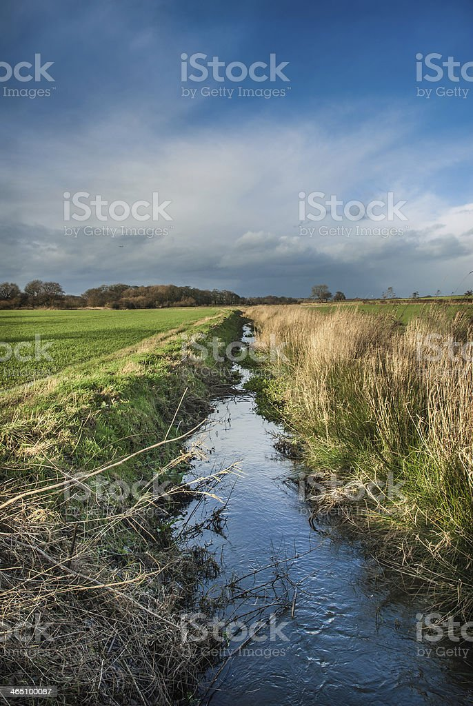 Field Ditch stock photo