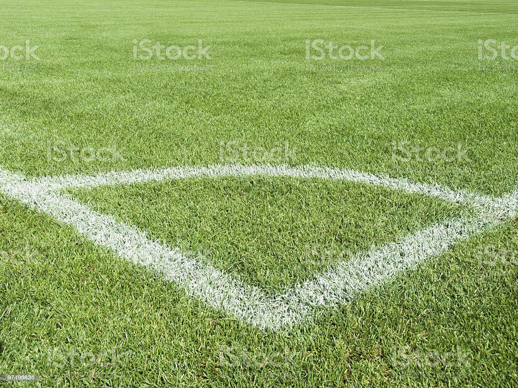 Field for game in football royalty-free stock photo