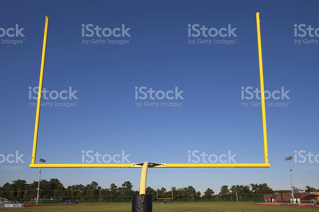 Field Goal Post royalty-free stock photo