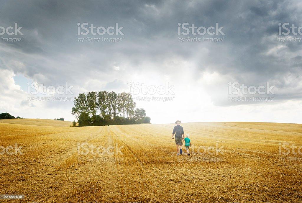 Field Hiking stock photo