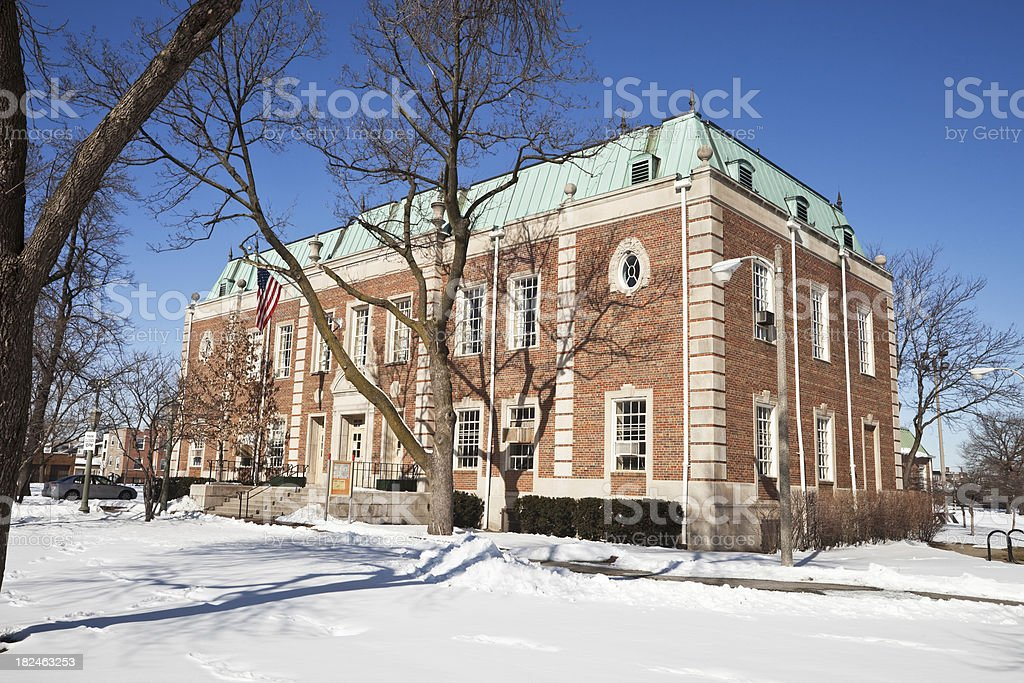 Field House in Chicago Northwest Side Park royalty-free stock photo