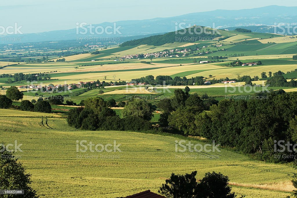 Field in France stock photo