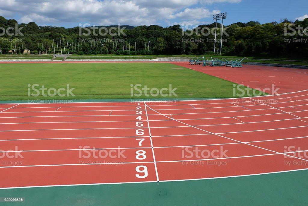 field in stadium stock photo