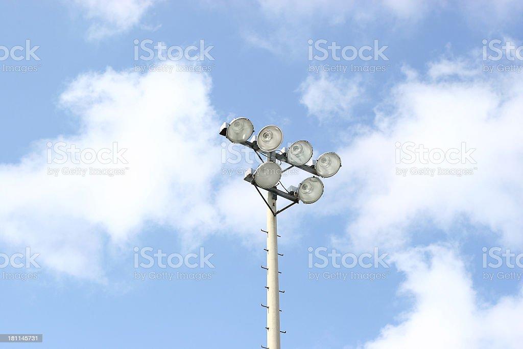 Field Lights royalty-free stock photo