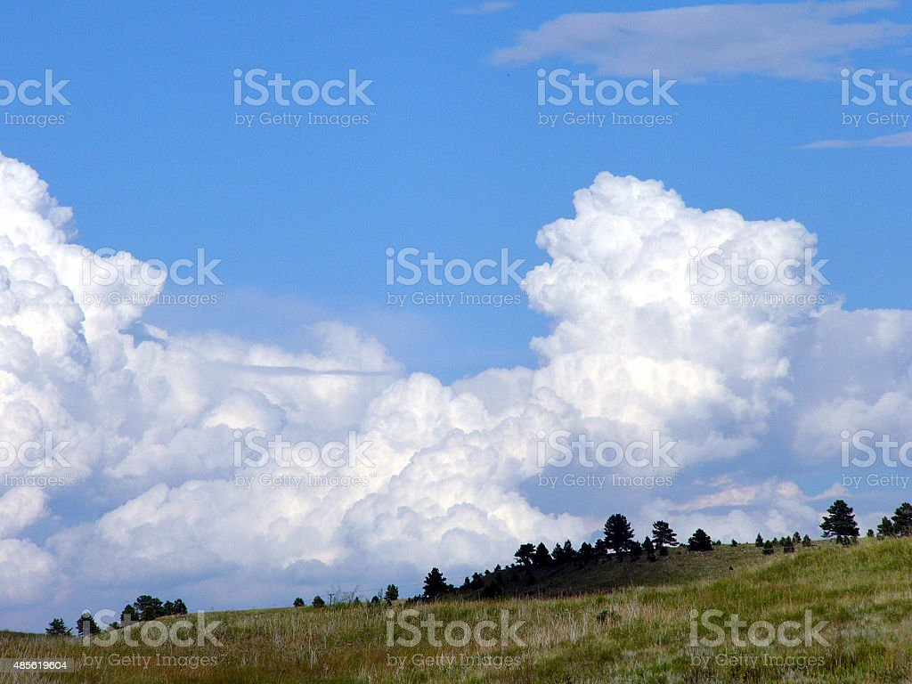 Field of clouds two stock photo