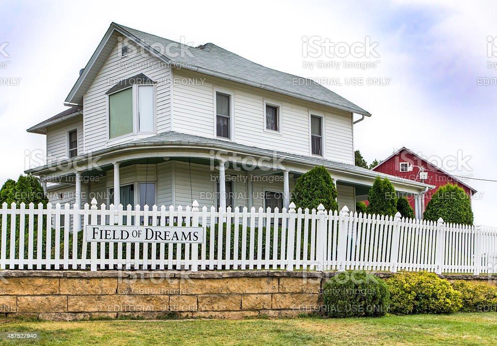 Field of Dreams Farmhouse stock photo