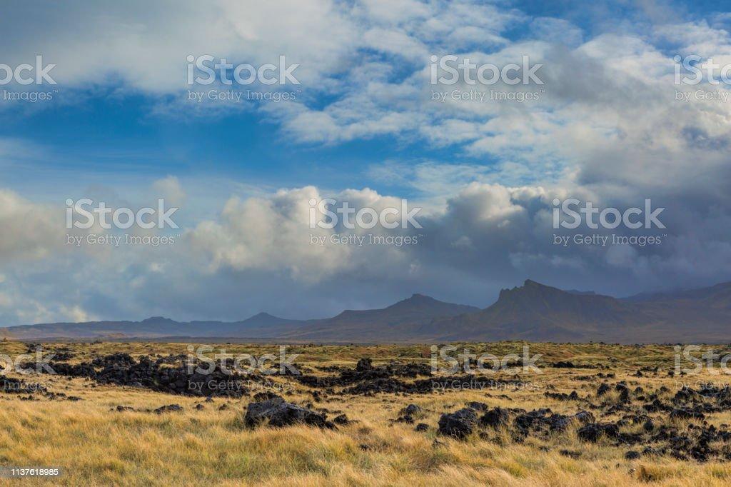 Field Of Lava stock photo
