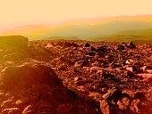 Color Enhanced Rock on Barrett Spur, Oregon
