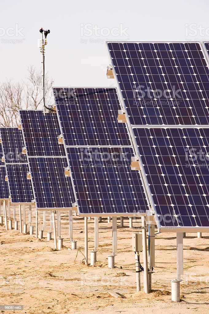 Field of Solar Arrays royalty-free stock photo