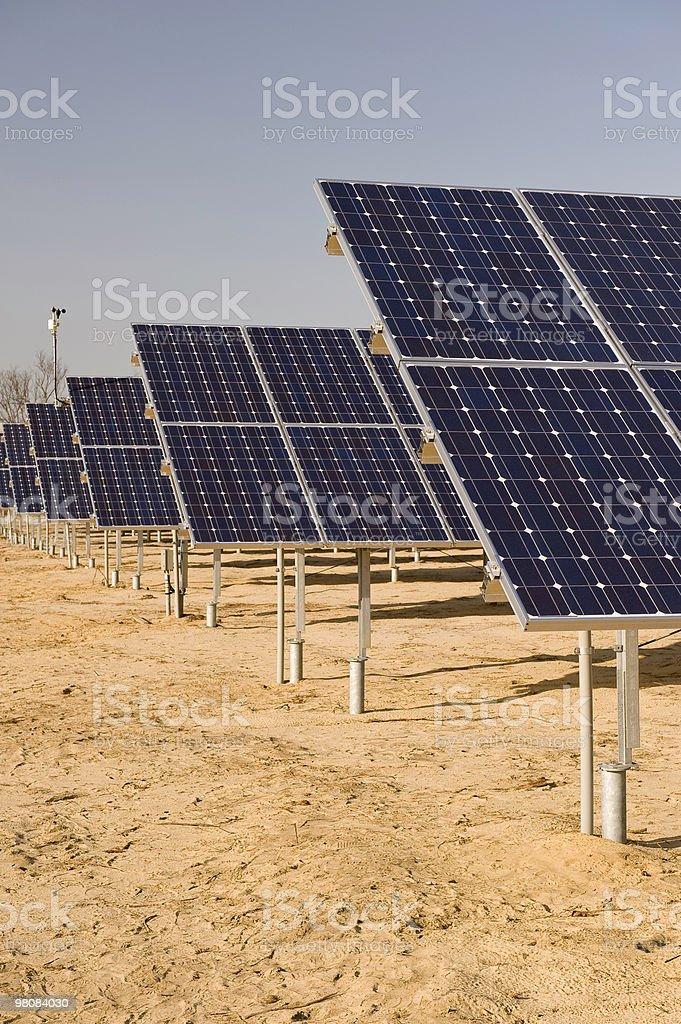 Field of Solar Arrays royalty-free stock photo