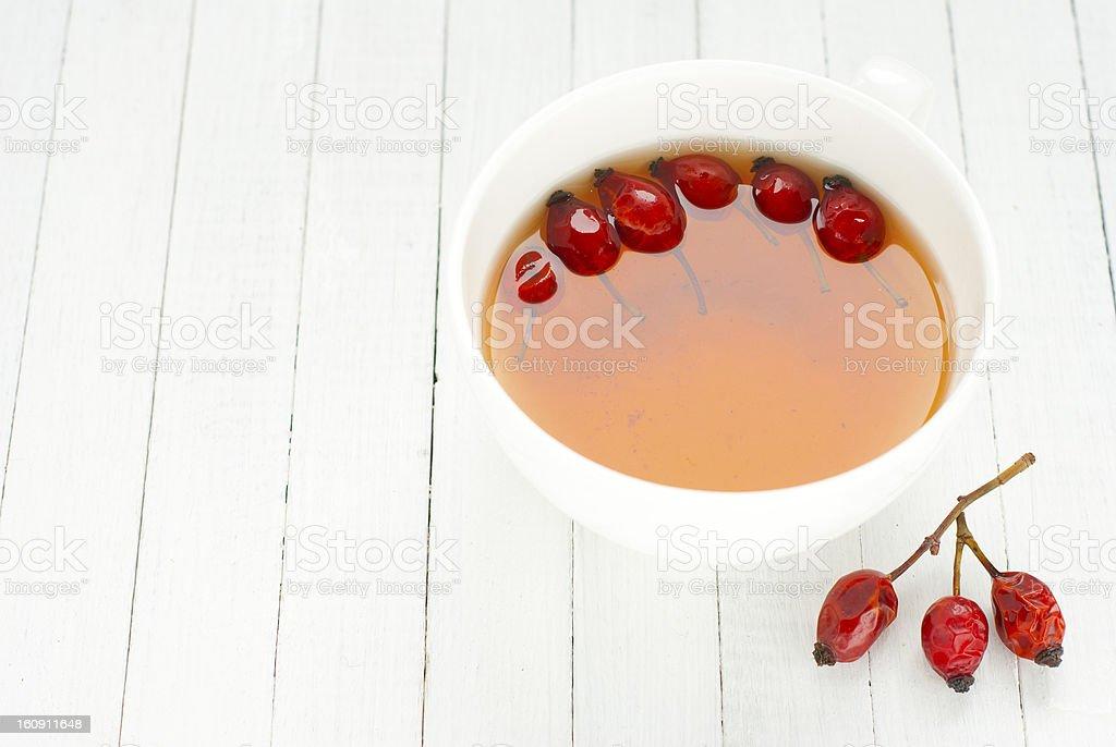 Field rose tea stock photo