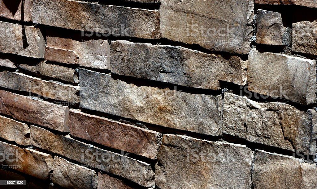 Field stone wall stock photo