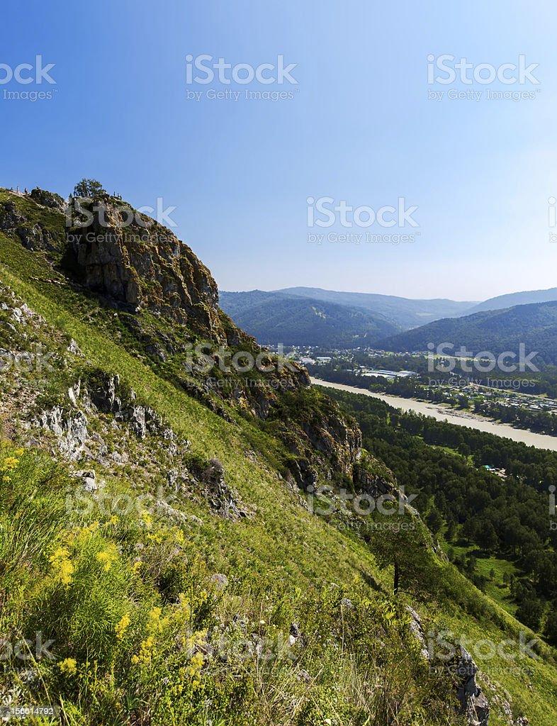 field summer mountain royalty-free stock photo