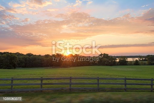 Farm, Sunrise - dawn, Meadow, Summer