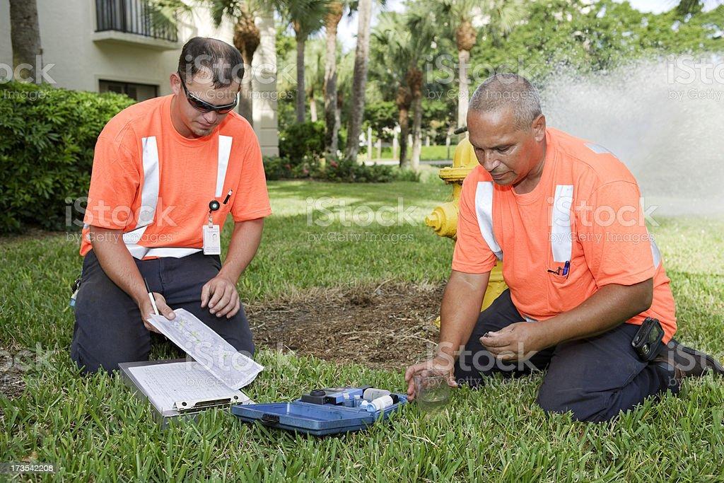 Field Technicians stock photo