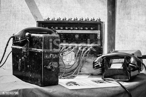 Field telephone exchange