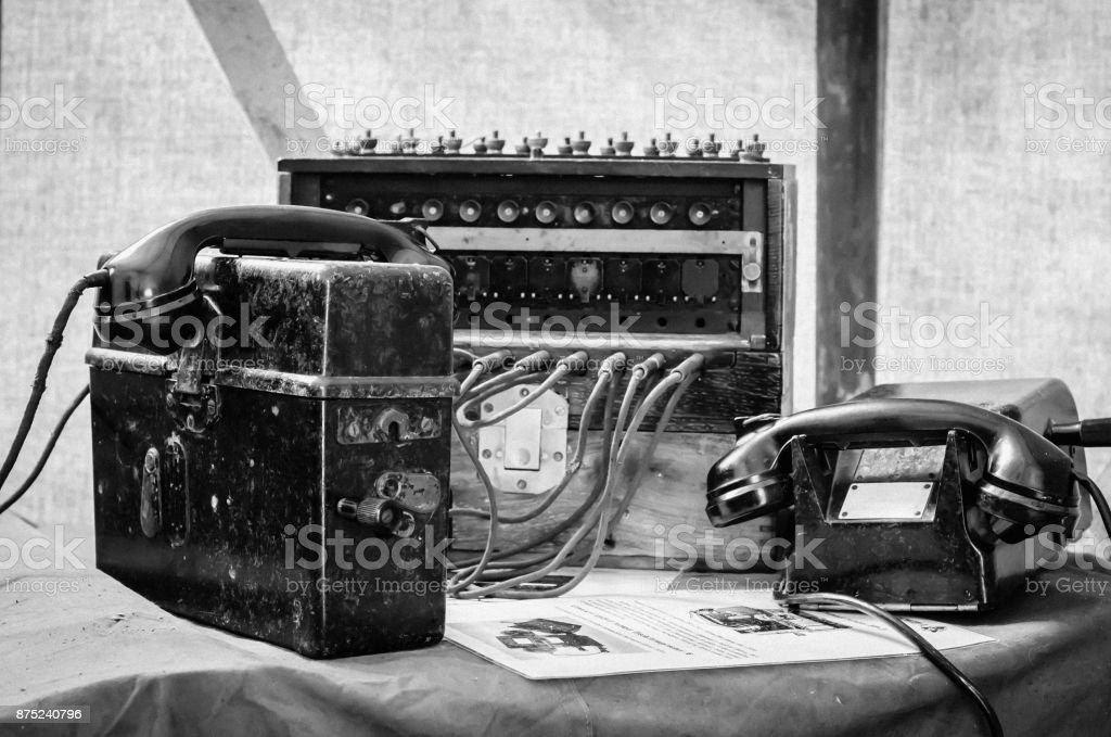 Campo central telefônica - foto de acervo