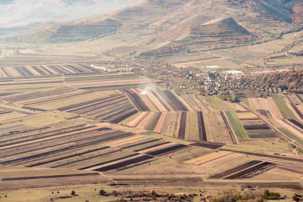 Felder Luftlandschaft in Denbergen im Sommer – Foto