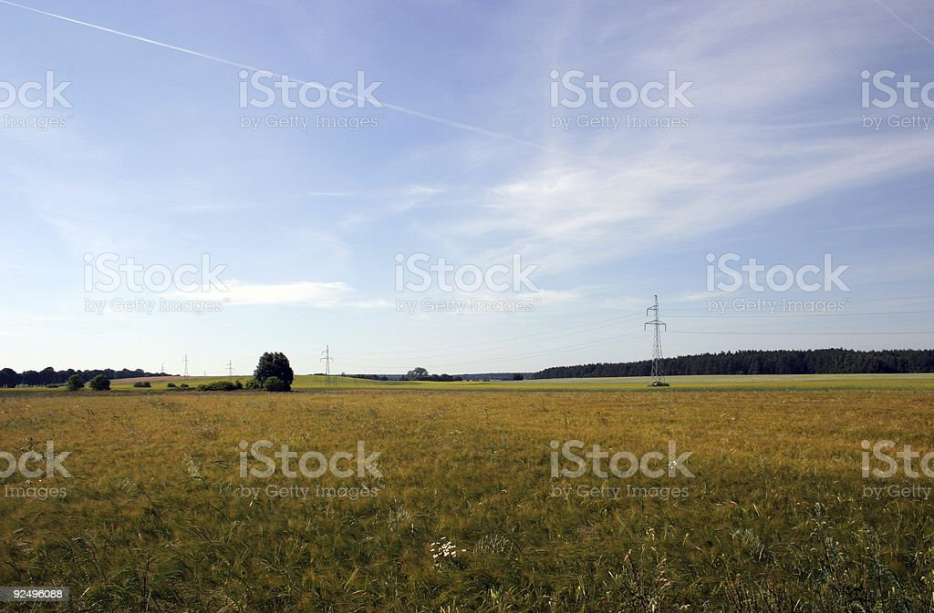 Fields and meadows royalty-free stock photo