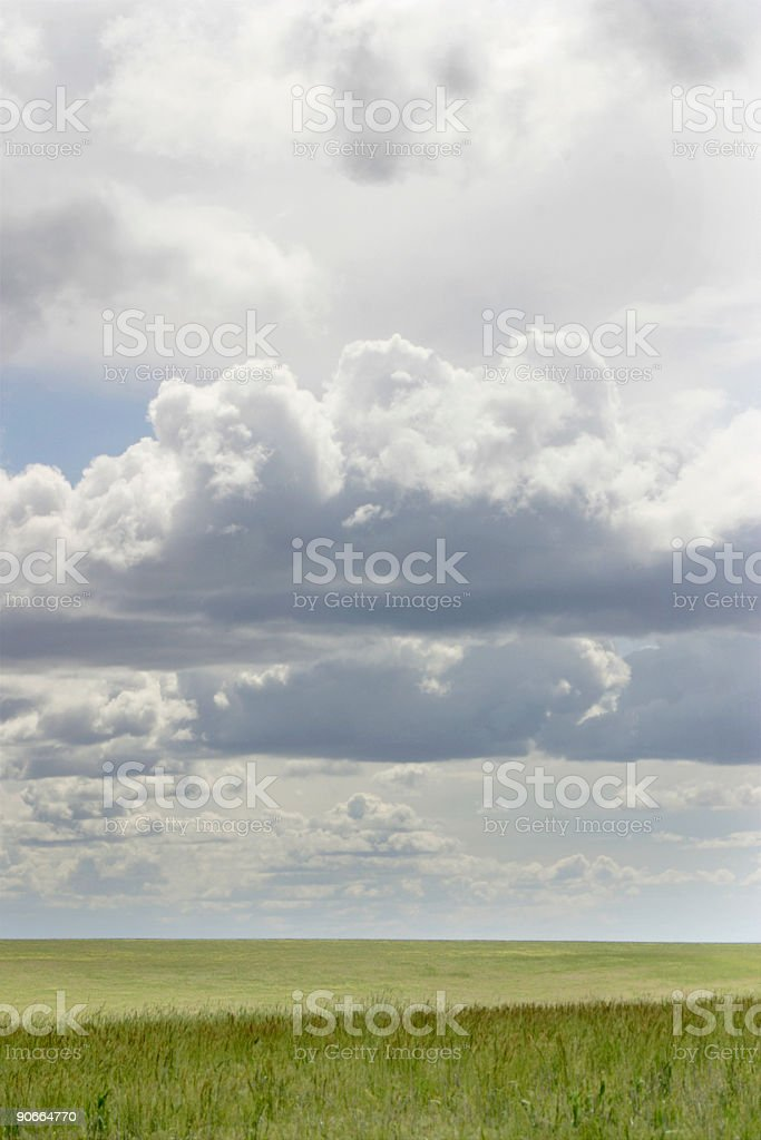 Fields and Sky stock photo
