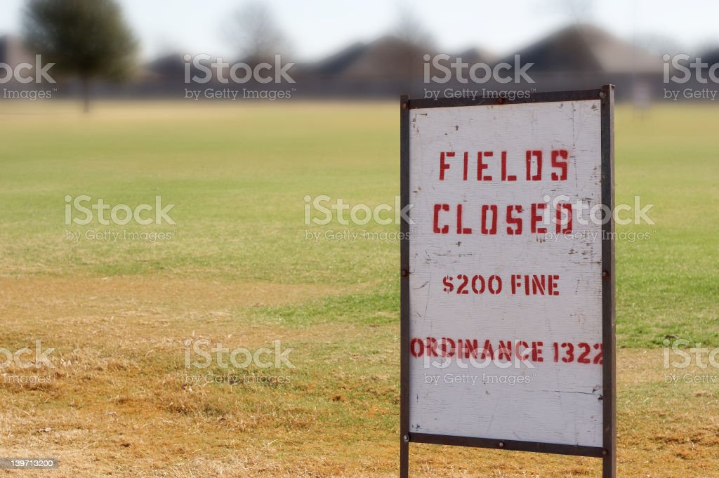 Fields closed royalty-free stock photo