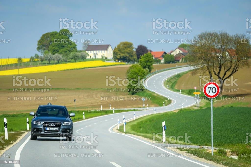 Fields of Bavaria stock photo