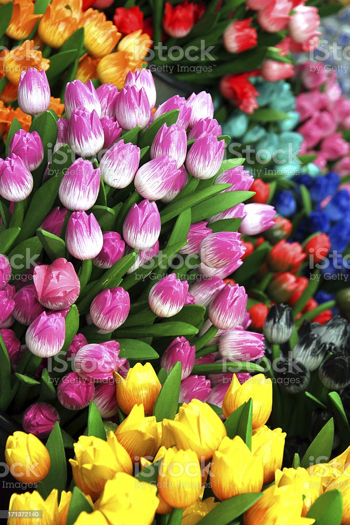 Fields of Fake Flowers royalty-free stock photo