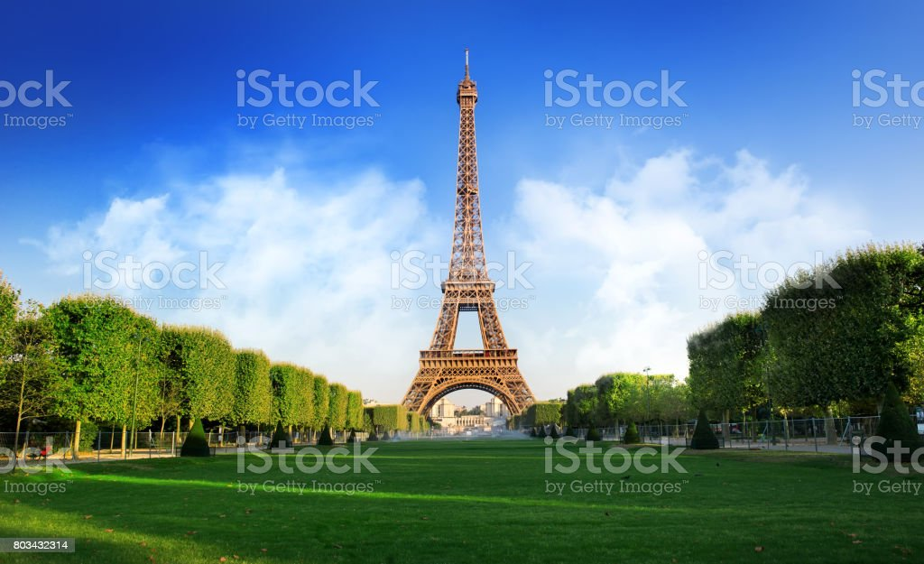 Champs de Mars stock photo