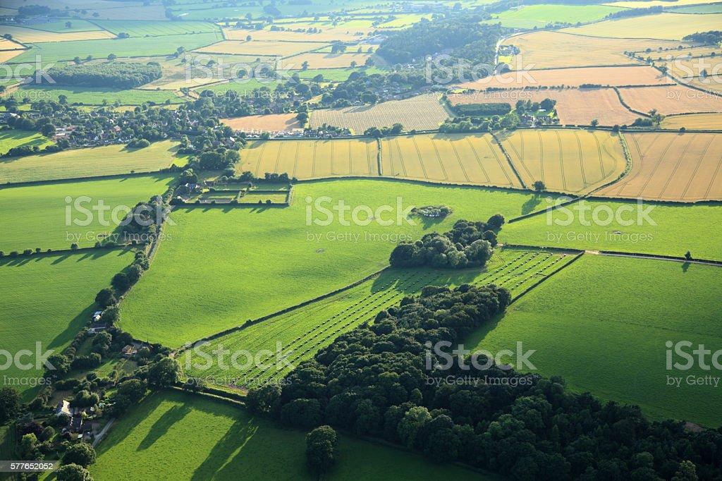 Fields patterns stock photo