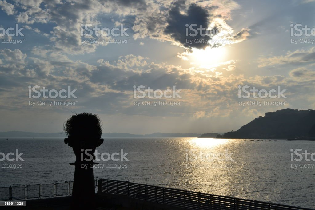 campi flegrei at suset royalty-free stock photo