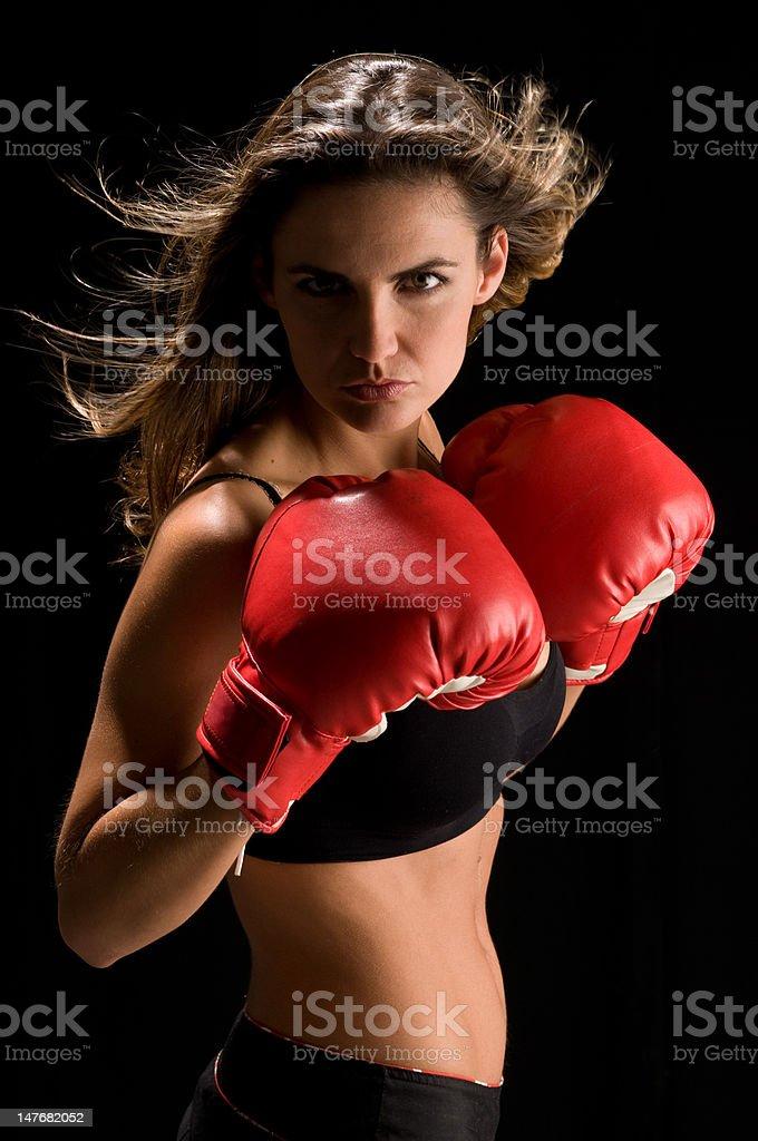Fierce boxing stock photo