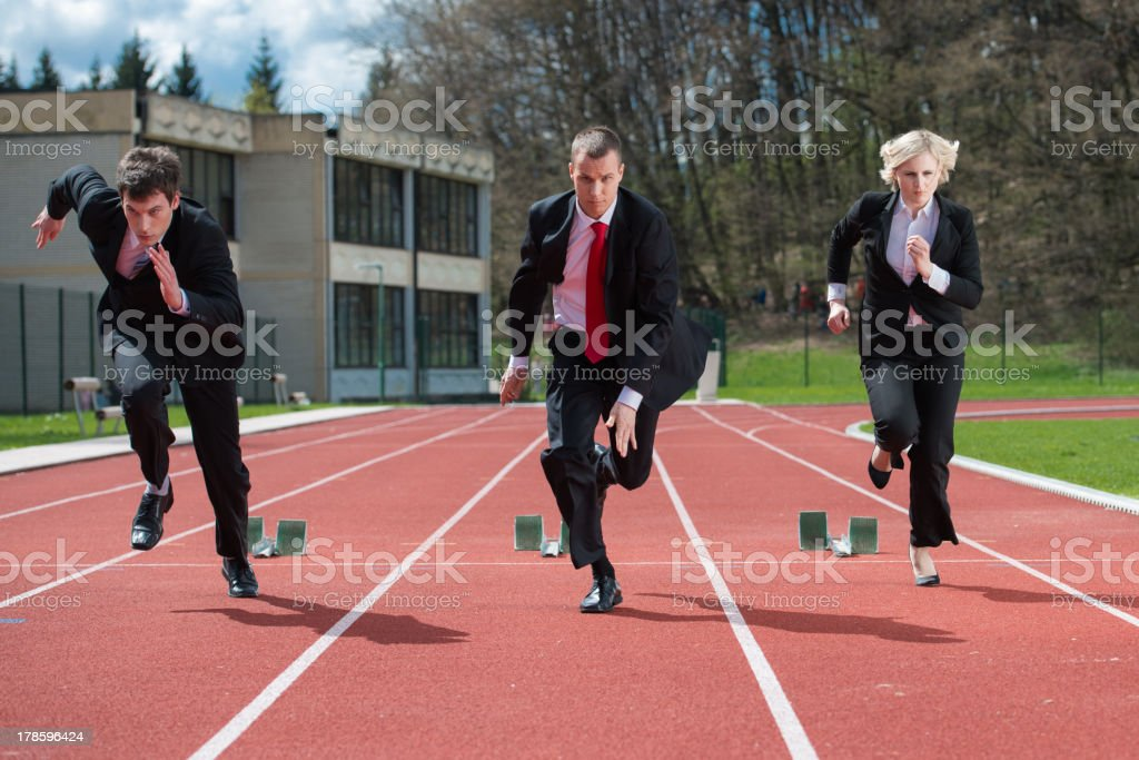 Fierce Competition stock photo