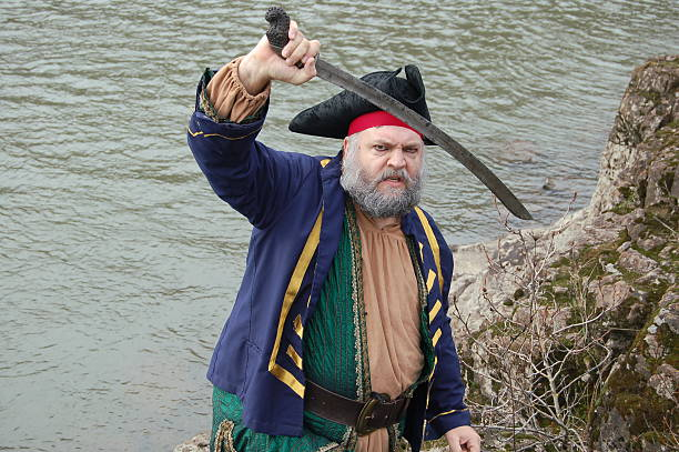 fierce pirate - swashbuckler stock photos and pictures