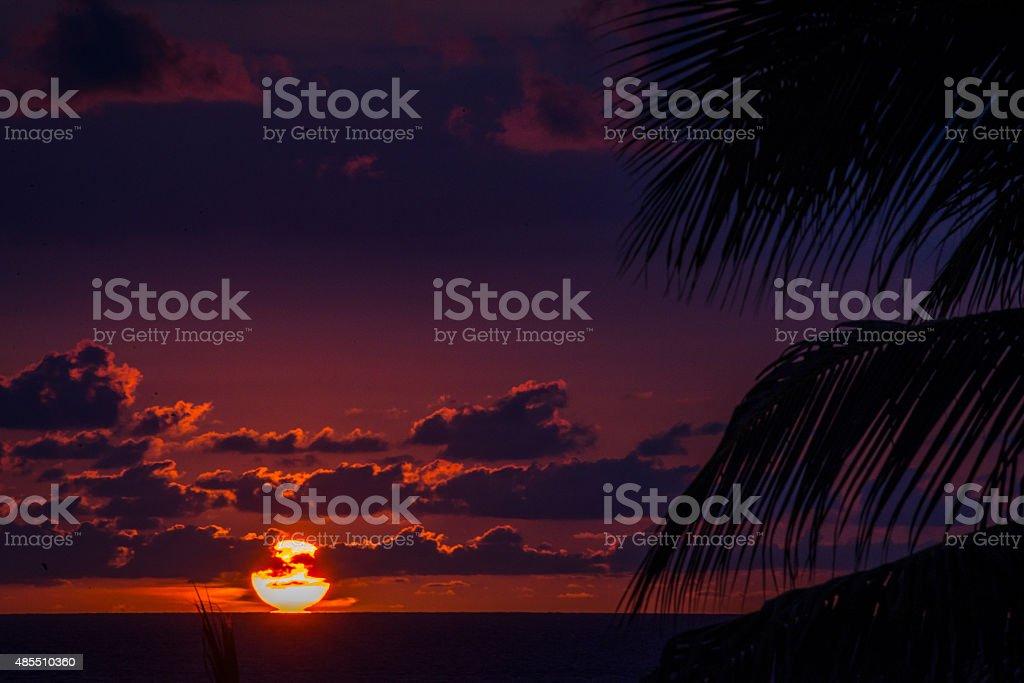 Leidenschaftliche Sonnenuntergang in Puerto Vallarta – Foto