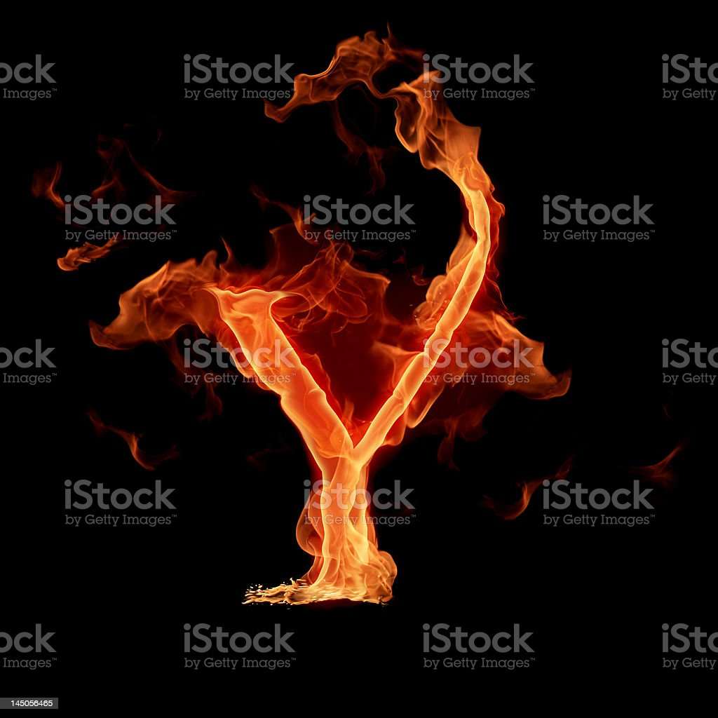 Fiery font stock photo