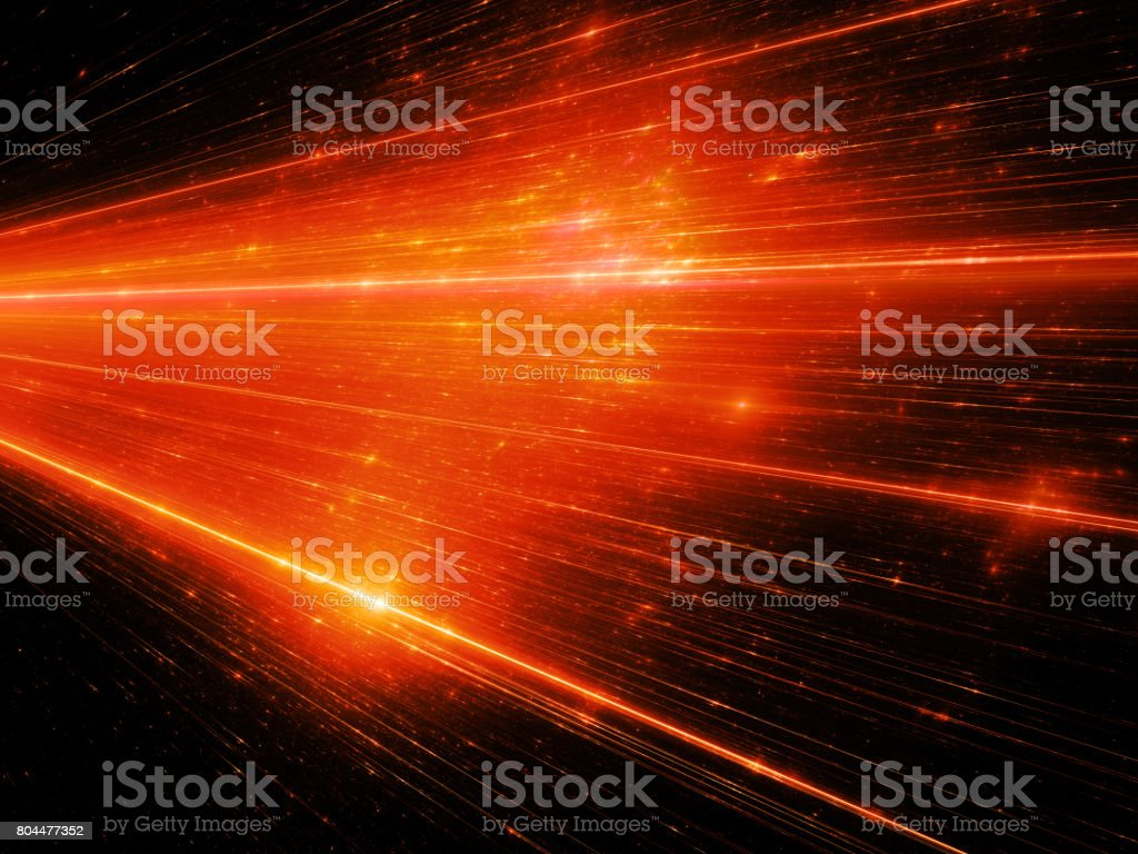 Fiery glowing connections in space stock photo