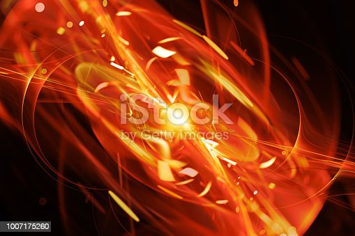 istock Fiery glowing explosion abstract background 1007175260
