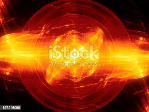 istock Fiery glowing fusion with plasma force field 657546096
