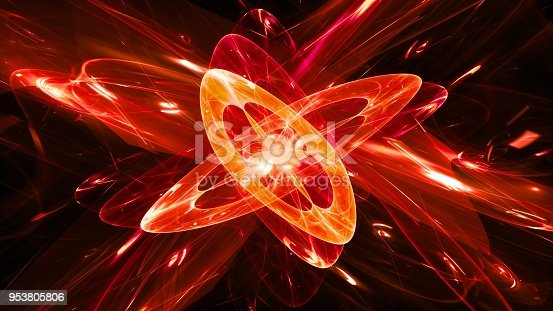 istock Fiery glowing magical quantum abstract background 953805806