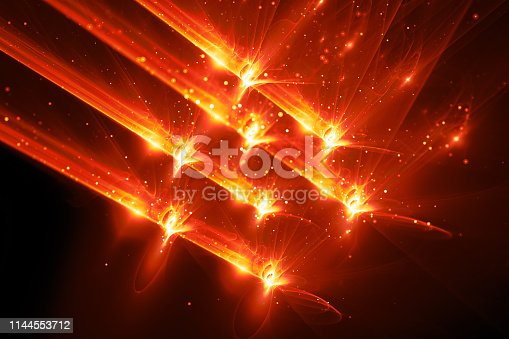 istock Fiery glowing quantum weapon abstract background 1144553712