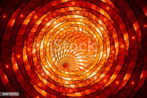 istock Fiery glowing stained-glass 848759252
