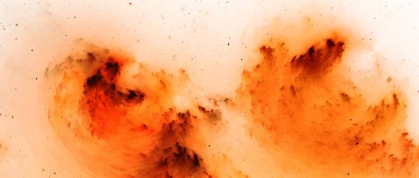 Feurig umgekehrter Nebelfraktal-Breitbild-Hintergrund – Foto
